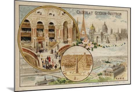 Paris--Mounted Giclee Print