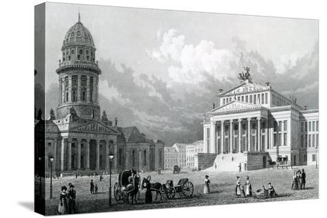 The Concert Hall, Berlin, 1833--Stretched Canvas Print