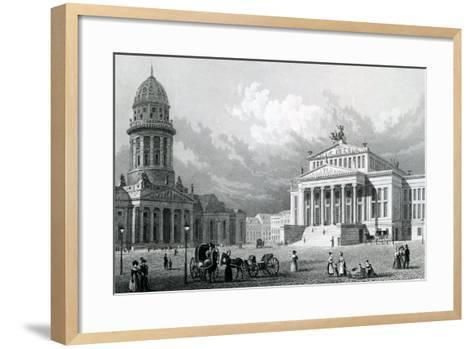 The Concert Hall, Berlin, 1833--Framed Art Print