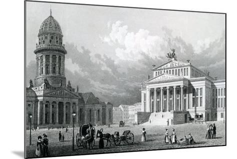 The Concert Hall, Berlin, 1833--Mounted Giclee Print