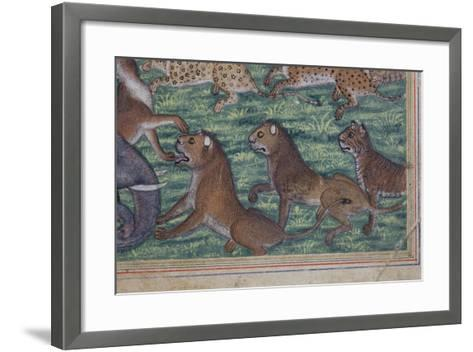 Detail from the Jackal Who Pronounced Himself King, C.1560-65--Framed Art Print