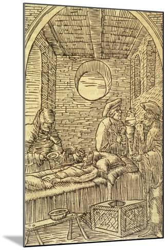 Administering Medicinal Herbs, 1534--Mounted Giclee Print