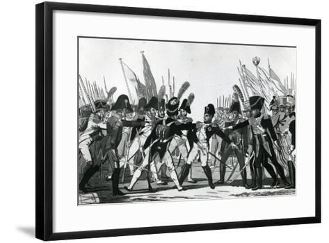 The End of Napoleon as Emperor--Framed Art Print