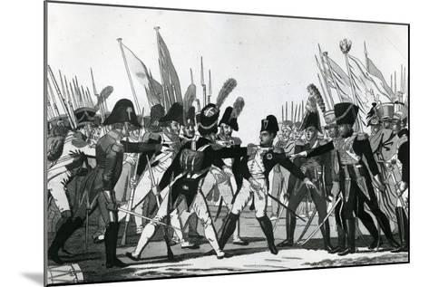 The End of Napoleon as Emperor--Mounted Giclee Print