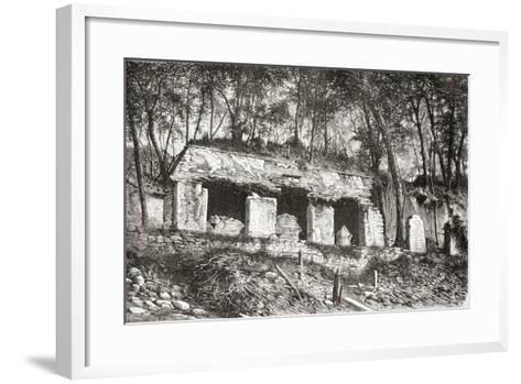 The Facade of the Palace at Palenque, Southern Mexico--Framed Art Print