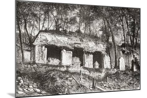 The Facade of the Palace at Palenque, Southern Mexico--Mounted Giclee Print