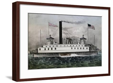 Ferry Boat to New York, 1869, United States, 19th Century--Framed Art Print