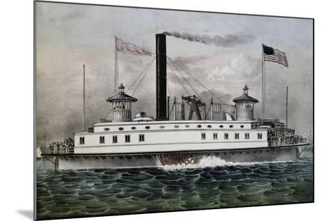 Ferry Boat to New York, 1869, United States, 19th Century--Mounted Giclee Print