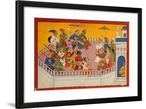 The Wedding Guests Assemble, C.1700--Framed Art Print