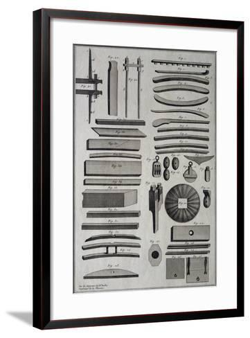 Parts of Ship under Construction, by Belin, 18th Century--Framed Art Print
