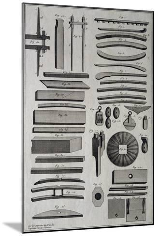 Parts of Ship under Construction, by Belin, 18th Century--Mounted Giclee Print