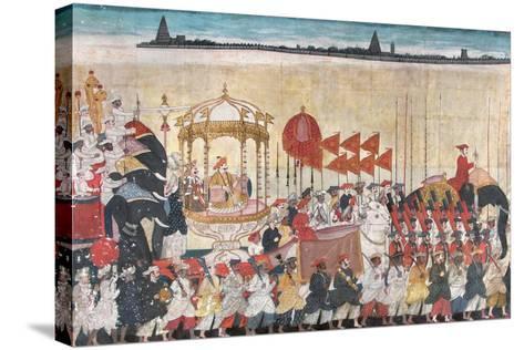 Rao Tuljaji in Procession, C.1775--Stretched Canvas Print