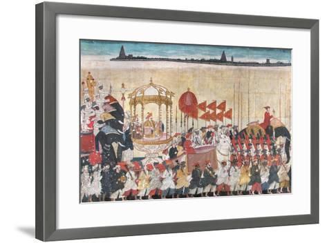 Rao Tuljaji in Procession, C.1775--Framed Art Print