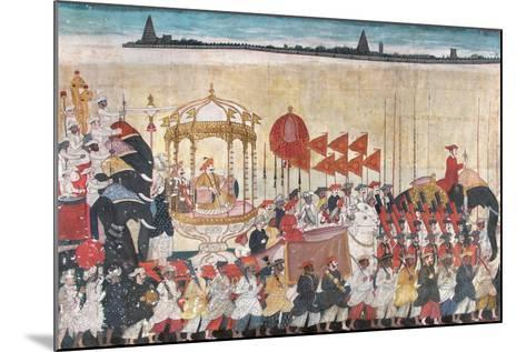 Rao Tuljaji in Procession, C.1775--Mounted Giclee Print
