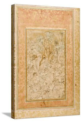 Majnun in the Wilderness, C.1595--Stretched Canvas Print