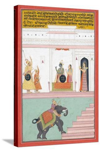 Kanhada Ragini of Dipak, C.1755--Stretched Canvas Print
