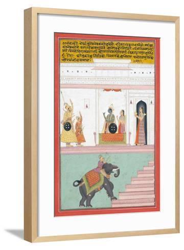 Kanhada Ragini of Dipak, C.1755--Framed Art Print