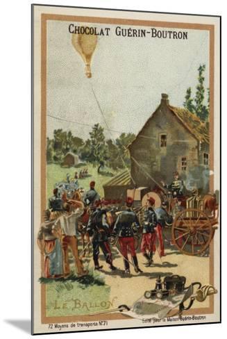 Balloon--Mounted Giclee Print