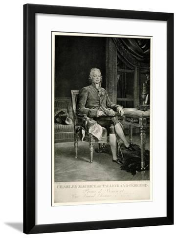 Charles Maurice Herzog Von Talleyrand-Périgord, 1884-90--Framed Art Print