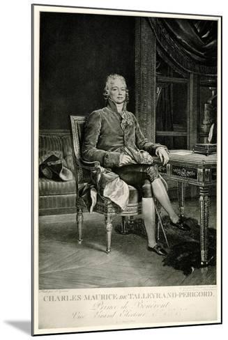 Charles Maurice Herzog Von Talleyrand-Périgord, 1884-90--Mounted Giclee Print