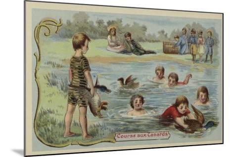Duck Race--Mounted Giclee Print