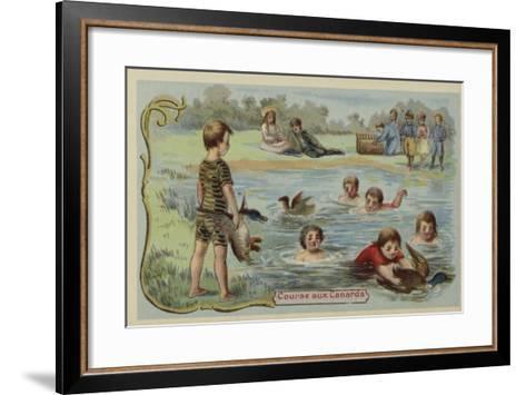 Duck Race--Framed Art Print