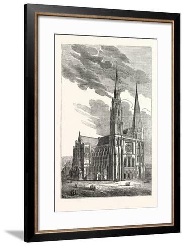 Chartres Cathedral, France--Framed Art Print