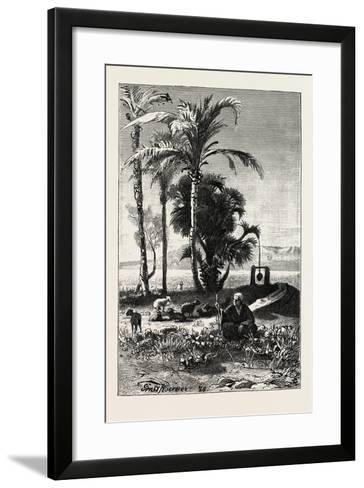 A Shepherd at Karnak, Egypt, 1879--Framed Art Print