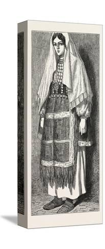 Traditional Slavonic Dress--Stretched Canvas Print