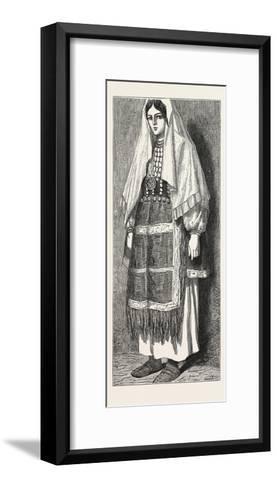 Traditional Slavonic Dress--Framed Art Print
