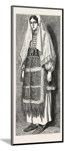 Traditional Slavonic Dress--Mounted Giclee Print