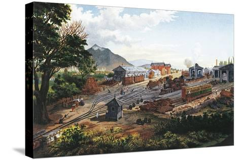Orizaba Station, 1878, Mexico, 19th Century--Stretched Canvas Print