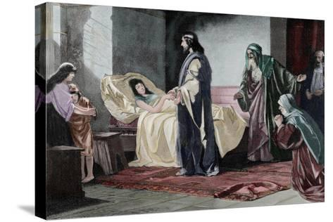Resurrection of Jairus' Daughter, by Rusing--Stretched Canvas Print