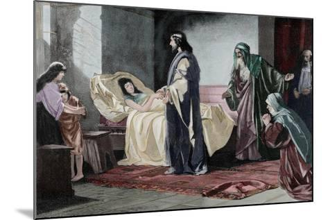 Resurrection of Jairus' Daughter, by Rusing--Mounted Giclee Print