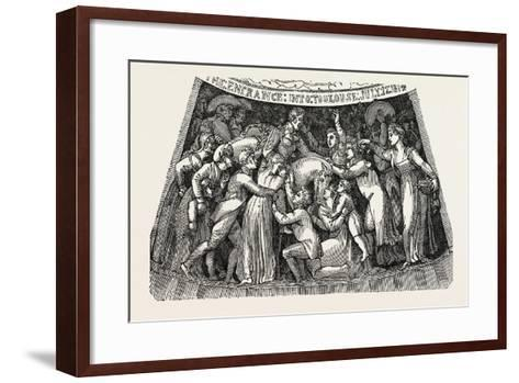 The Ninth Compartment of the Wellington Shield--Framed Art Print