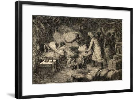 Death of David Livingstone (1813-1873)--Framed Art Print