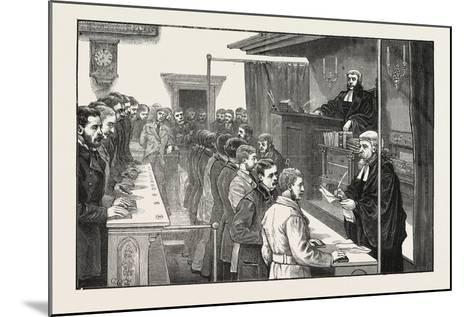 Swearing in Solicitors before the Master of the Rolls, 1876, UK--Mounted Giclee Print