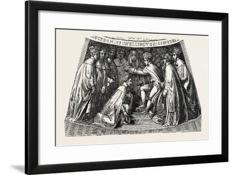 The Tenth Compartment of the Wellington Shield--Framed Art Print