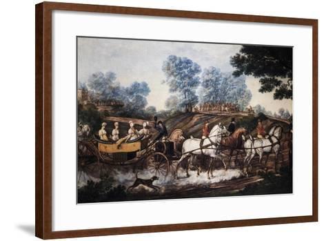 Hunting Scene, Print, France, 19th Century--Framed Art Print