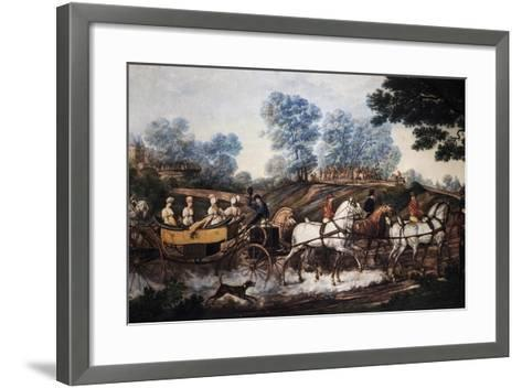 Hunting Scene, Print, France, 19th Century--Framed Art Print