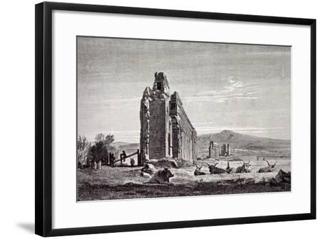 Rome Italy 1875 Ruins of Aqueducts of Claudius Near the Road to Albano--Framed Art Print