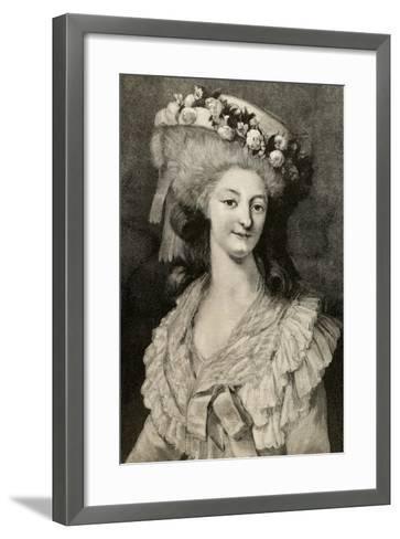 Princess Marie Louise of Savoy (1749-1792)--Framed Art Print