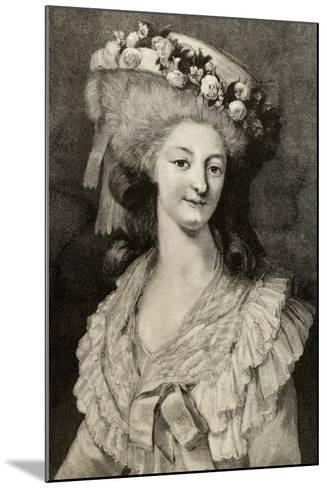 Princess Marie Louise of Savoy (1749-1792)--Mounted Giclee Print