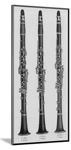 A Charles Gerard Conn New Boehm Clarinets--Mounted Giclee Print