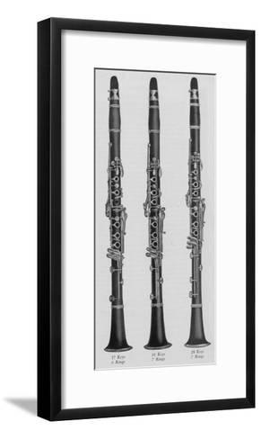 A Charles Gerard Conn New Boehm Clarinets--Framed Art Print