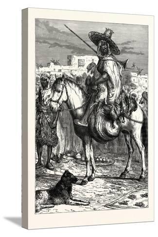An Arab Merchant at Tlemcen, Algeria--Stretched Canvas Print