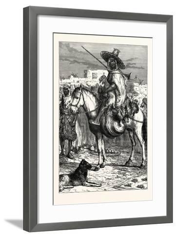 An Arab Merchant at Tlemcen, Algeria--Framed Art Print