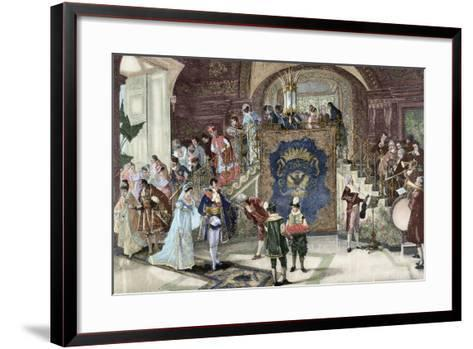 Wedding of Princess Borghese in Rome--Framed Art Print