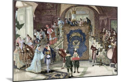 Wedding of Princess Borghese in Rome--Mounted Giclee Print
