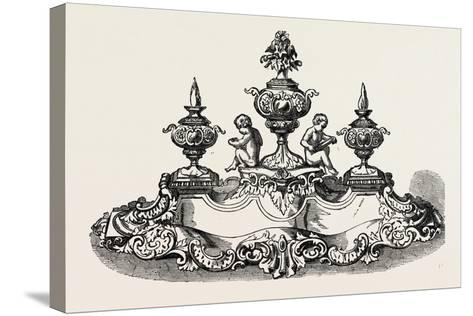 Silver Inkstand, 1851--Stretched Canvas Print
